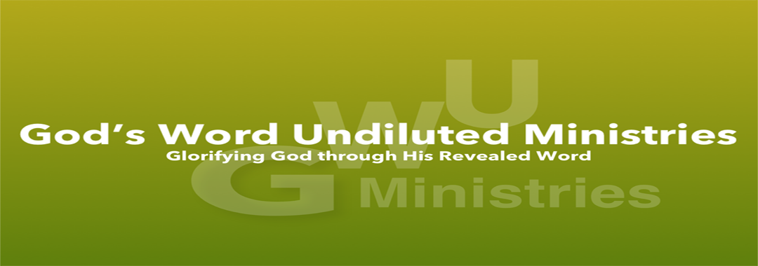 God's Word Undiluted Ministries Logo